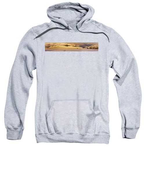 Pasture Land Covered In Snow At Sunset Sweatshirt