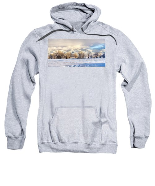Pasture Land Covered In Snow With Taos Sweatshirt