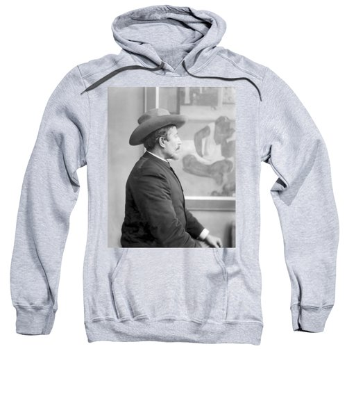 Paul Gauguin 1848-1903 In Front Of His Canvases, C.1893 Bw Photo Sweatshirt