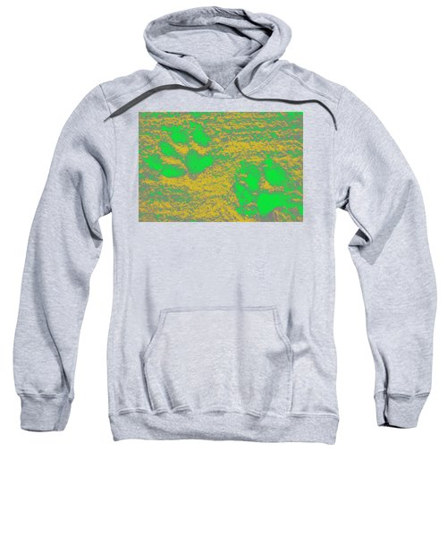 Paw Prints In Yellow And Lime Sweatshirt