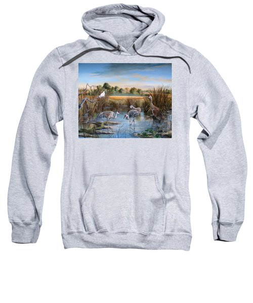 Paynes Prairie Preserve State Park- Day Of The Sand-hill Sweatshirt