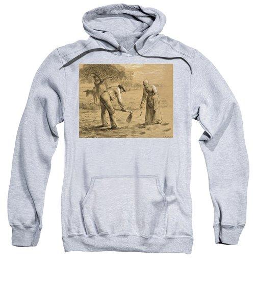 Peasants Planting Potatoes  Sweatshirt