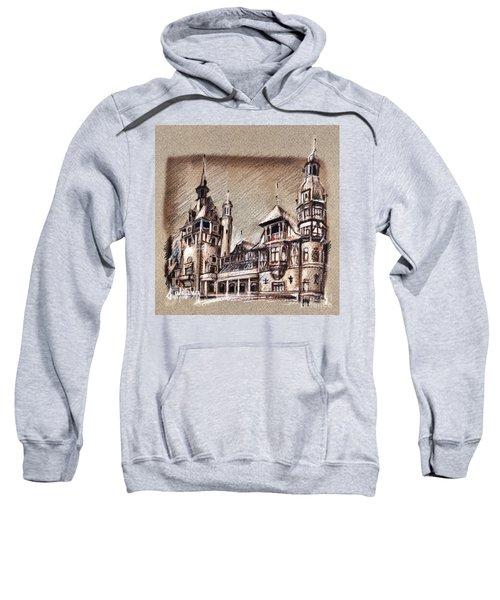 Peles Castle Romania Drawing Sweatshirt