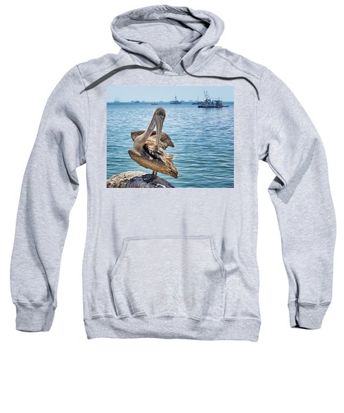 Pelican At Avila Beach Sweatshirt