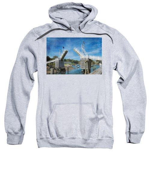 Perkins Cove Drawbridge Textured Sweatshirt