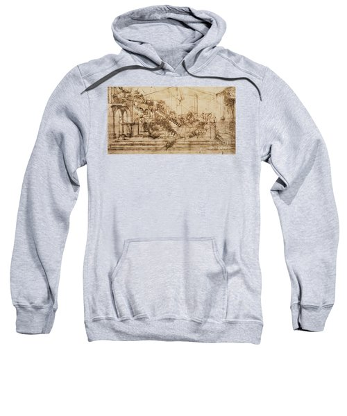 Perspective Study For The Background Of The Adoration Of The Magi Sweatshirt