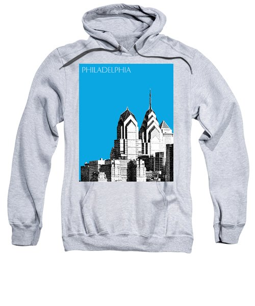 Philadelphia Skyline Liberty Place 1 - Ice Blue Sweatshirt
