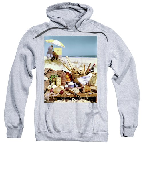 Picnic Display On The Beach Sweatshirt