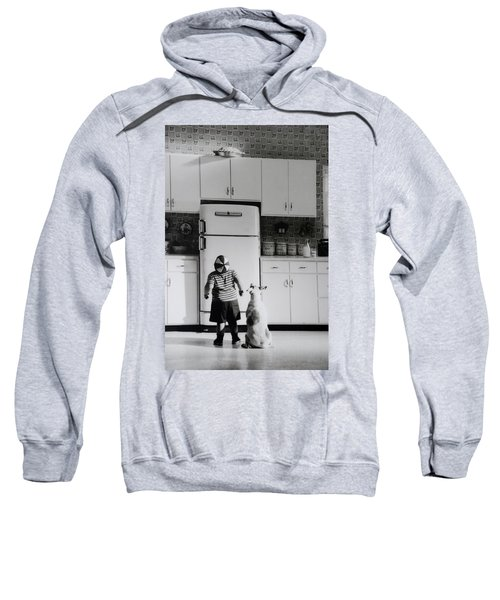 Pie In The Sky In Black And White Sweatshirt
