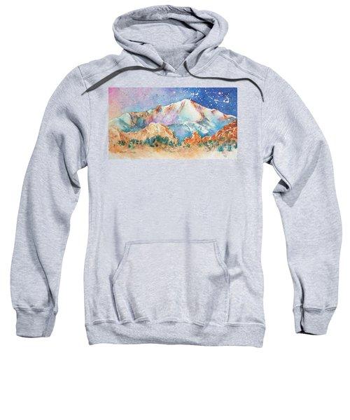 Pikes Peak Over The Garden Of The Gods Sweatshirt