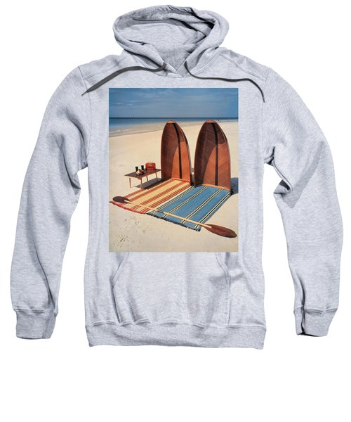 Pixie Collapsible Boat On The Beach Sweatshirt