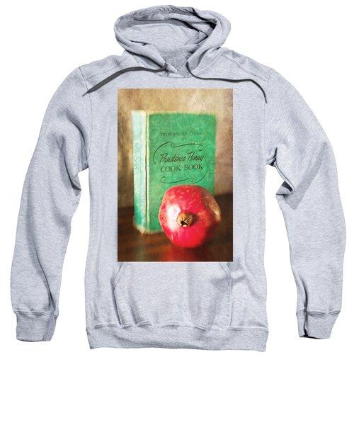 Pomegranate And Vintage Cook Book Still Life Sweatshirt