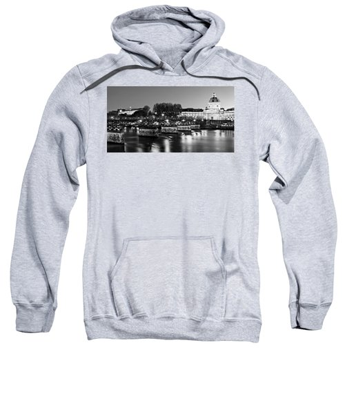 Pont Des Arts At Night / Paris Sweatshirt