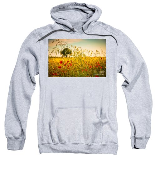 Poppies With Tree In The Distance Sweatshirt