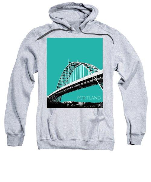 Portland Bridge - Teal Sweatshirt