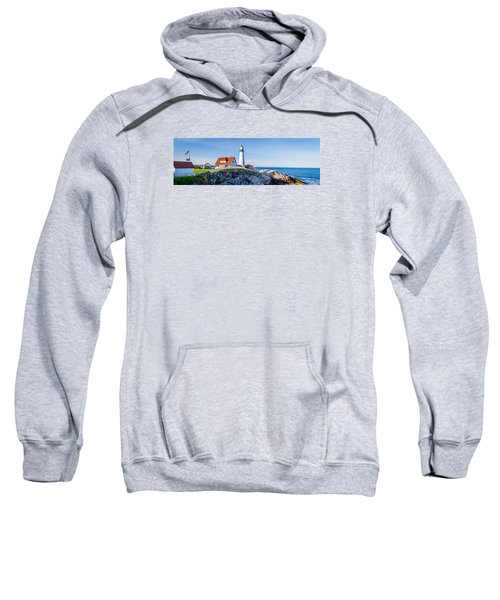 Portland Head Light House Cape Elizabeth Maine Sweatshirt
