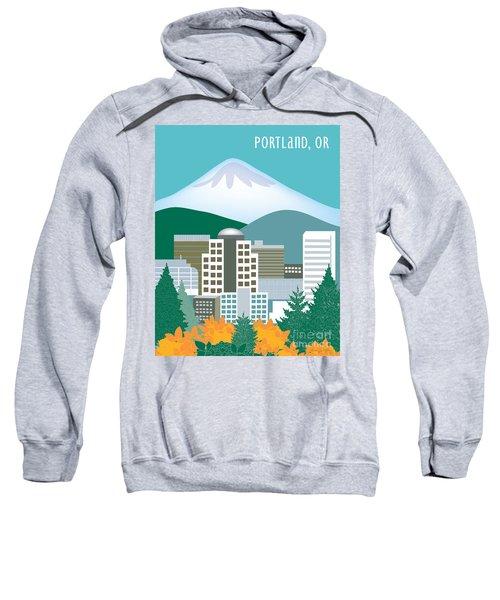 Portland Oregon Vertical Skyline Sweatshirt