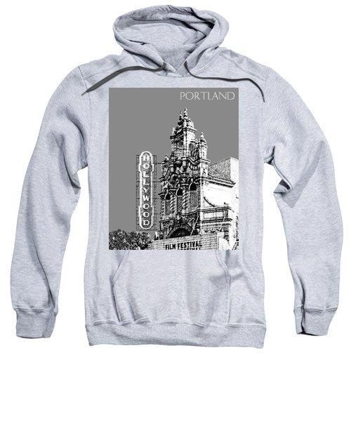 Portland Skyline Hollywood Theater - Pewter Sweatshirt