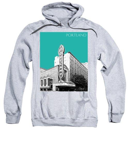 Portland Skyline Portland Theater - Teal Sweatshirt