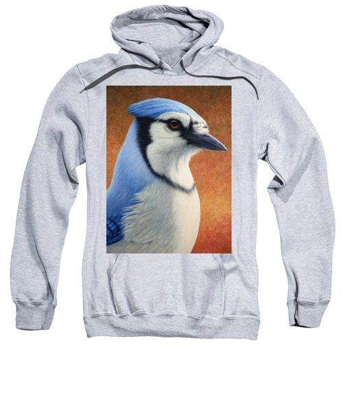 Portrait Of A Bluejay Sweatshirt by James W Johnson