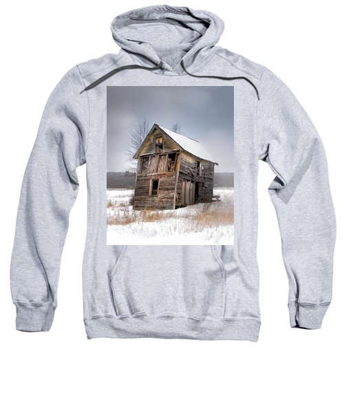 Portrait Of An Old Shack - Agriculural Buildings And Barns Sweatshirt