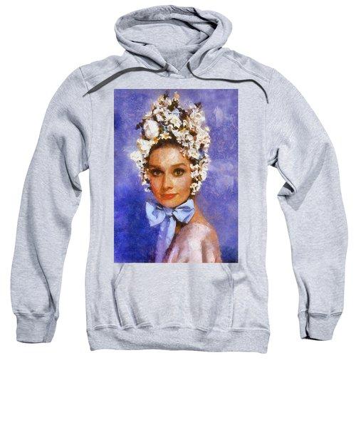 Portrait Of Audrey Hepburn Sweatshirt