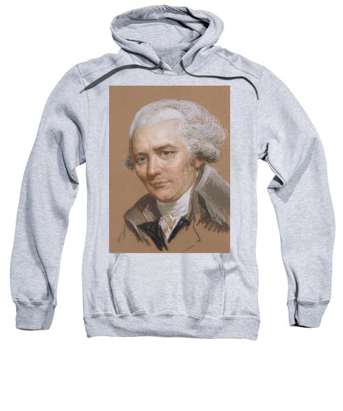 Portrait Of Pierre Choderlos De Laclos 1741-1803, Officer And French Writer Pastel And Wc On Paper Sweatshirt