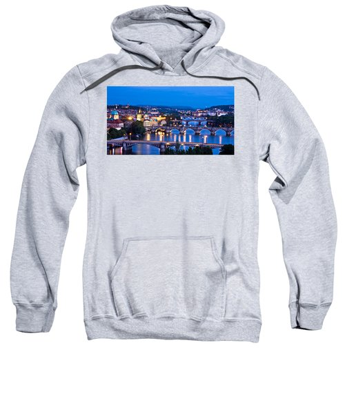 Prague Cityscape At Night Sweatshirt