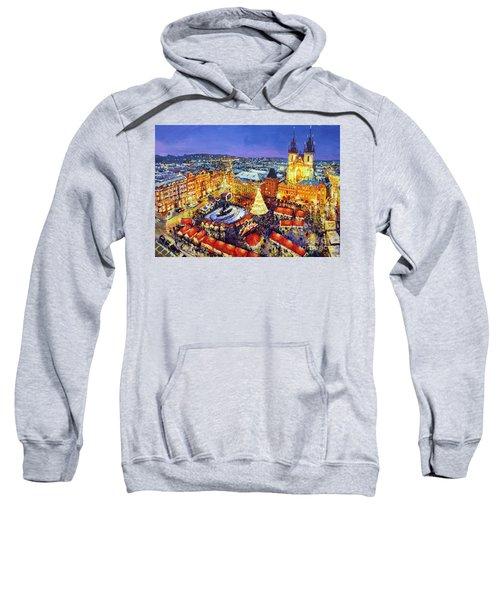 Prague Old Town Square Christmas Market 2014 Sweatshirt