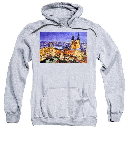 Prague Old Town Square Christmas Market Sweatshirt
