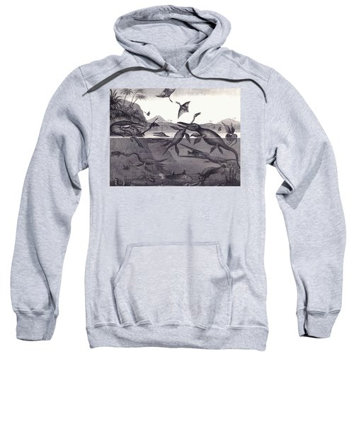Prehistoric Animals Of The Lias Group Sweatshirt by English School