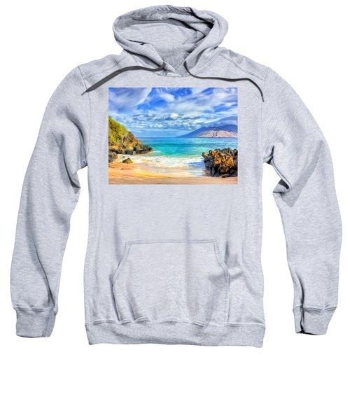 Private Beach At Wailea Maui Sweatshirt