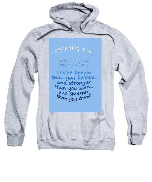 Promise Me - Winnie The Pooh - Blue Sweatshirt
