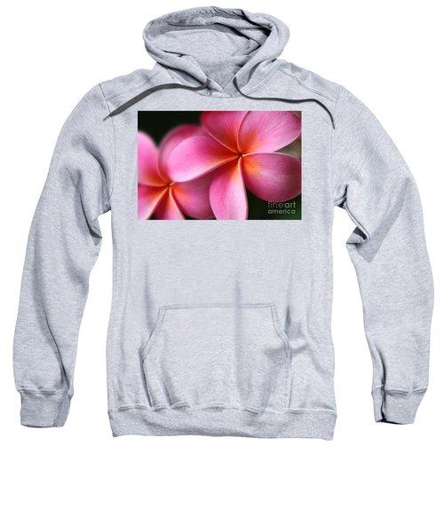 Pua Lei Aloha Cherished Blossom Pink Tropical Plumeria Hina Ma Lai Lena O Hawaii Sweatshirt