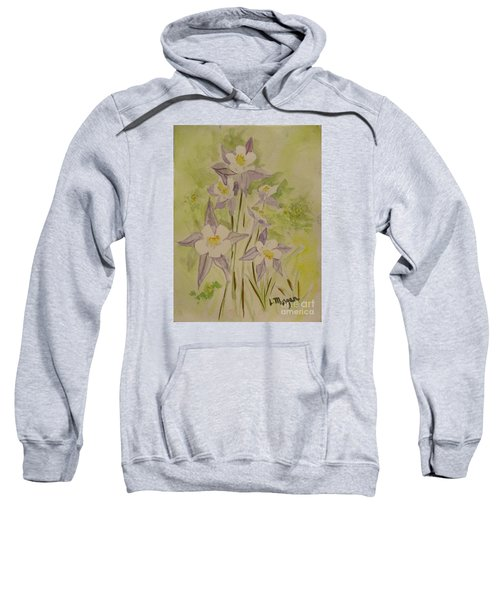 Purple And White Columbines Sweatshirt