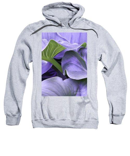 Purple Calla Lily Bush Sweatshirt