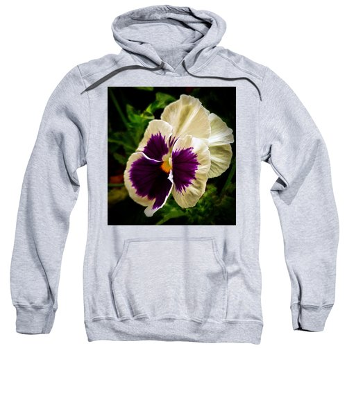 Purple Pansy Sweatshirt