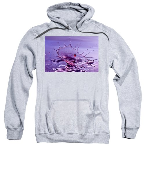 Purple Water Splash Sweatshirt