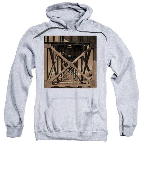 Railroad Trestle Sepia Sweatshirt