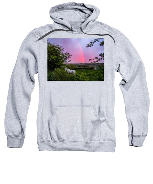Sweatshirt featuring the photograph Rainbow At Sunset In County Clare by James Truett