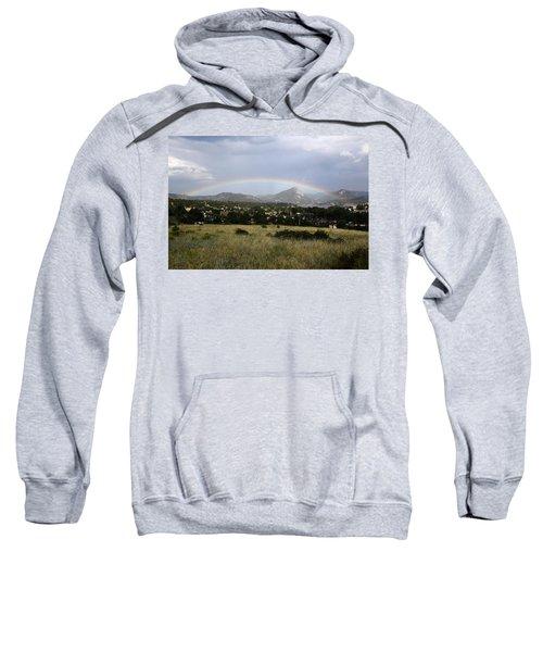 Rainbow Over Lake Estes Sweatshirt