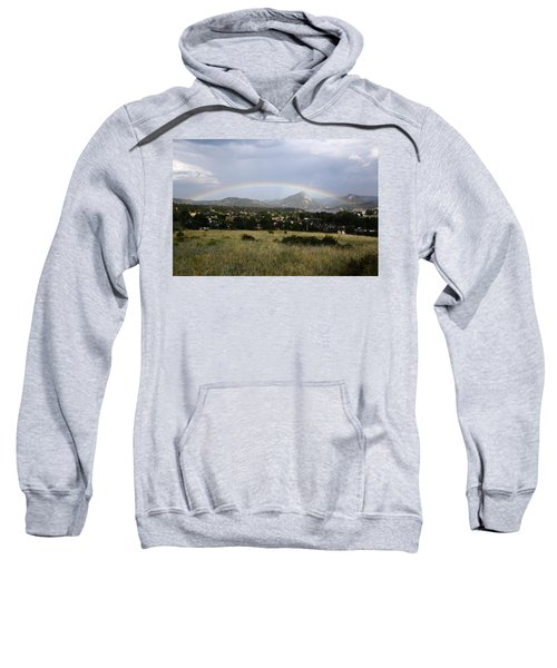 Rainbow Over Lake Estes Sweatshirt