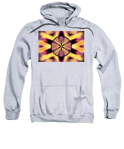 Rainbow Seed Of Life Sweatshirt by Derek Gedney