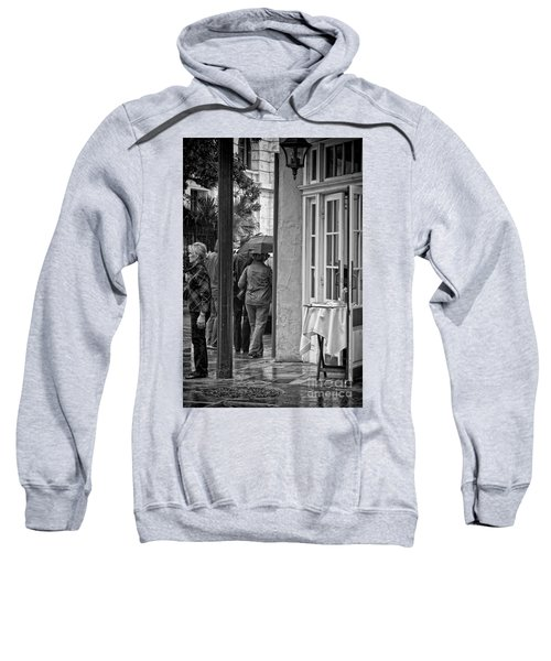 Rainy Day Lunch New Orleans Sweatshirt by Kathleen K Parker