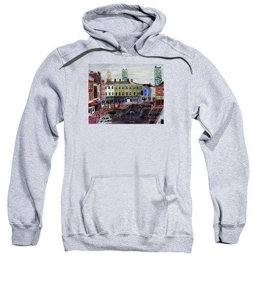 Rainy Day On Market Square Sweatshirt