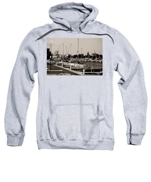 Ready To Sail In Black And White Sweatshirt