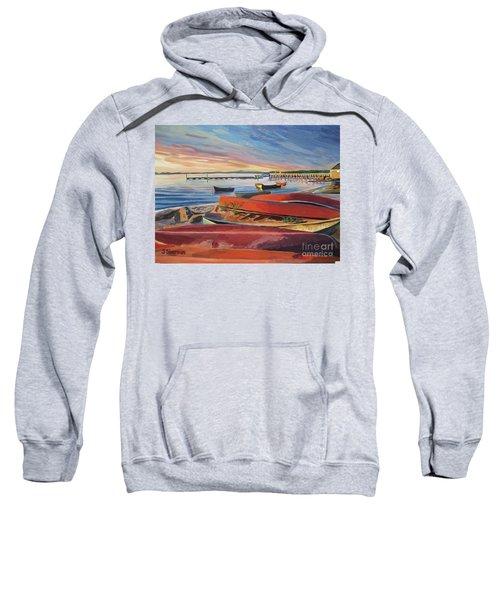 Red Canoe Sunset Sweatshirt