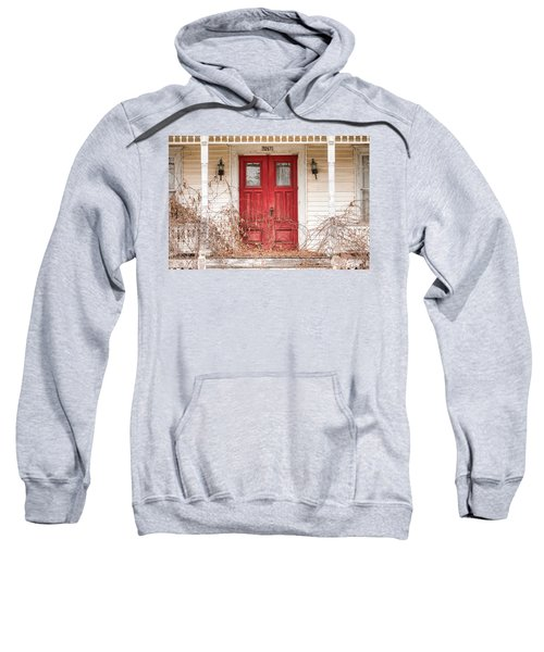 Red Doors - Charming Old Doors On The Abandoned House Sweatshirt