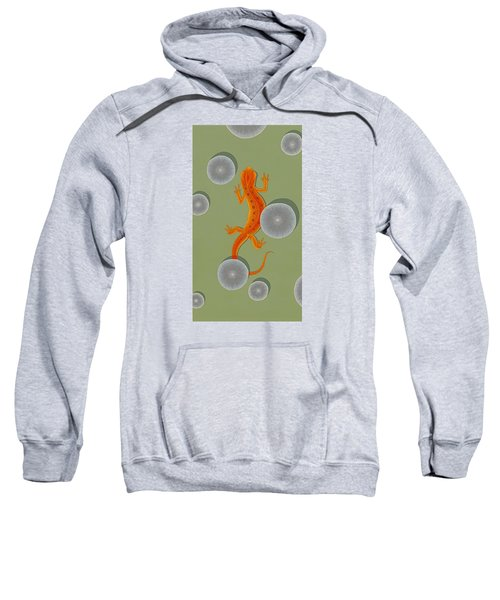 Red Eft Newt Sweatshirt by Nathan Marcy