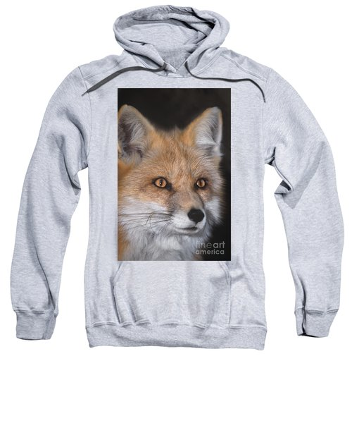 Red Fox Portrait Wildlife Rescue Sweatshirt